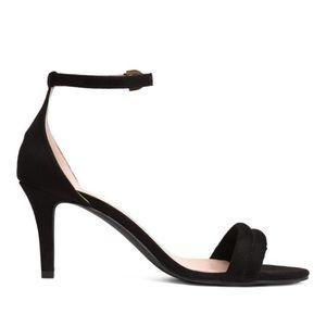 H&M Black Strappy Heels